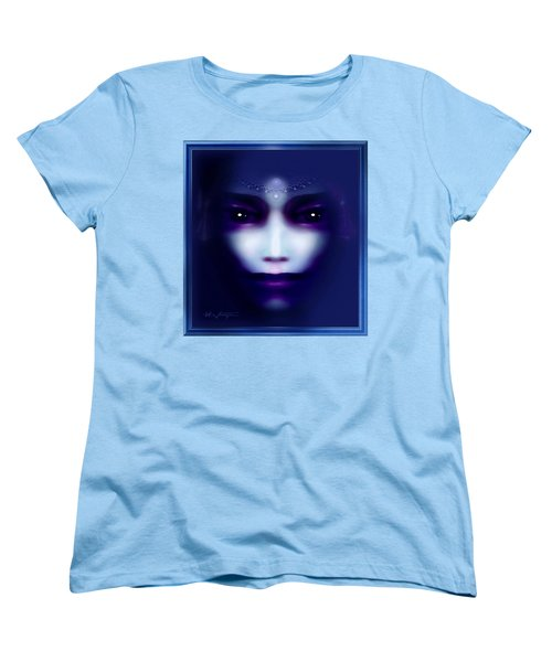 Angel  Blue Women's T-Shirt (Standard Cut) by Hartmut Jager
