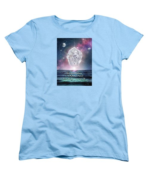 April Birthstone Diamond Women's T-Shirt (Standard Cut)