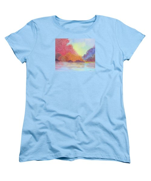 Women's T-Shirt (Standard Cut) featuring the painting Autumn's Aura by Stacey Zimmerman
