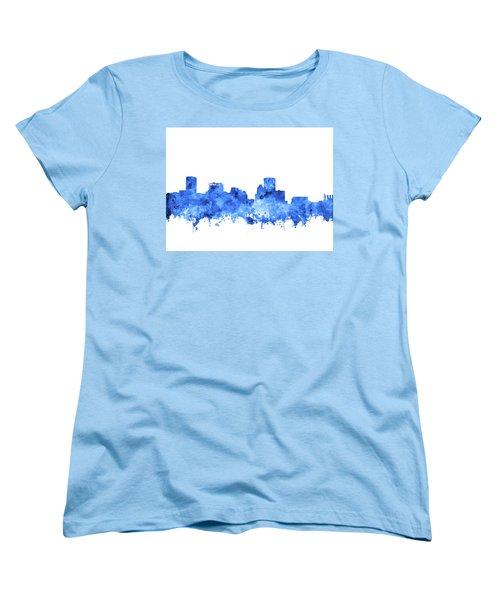 Women's T-Shirt (Standard Cut) featuring the painting Baltimore Skyline Watercolor 7 by Bekim Art