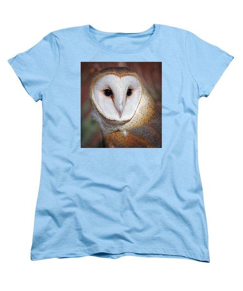 Barn Owl Women's T-Shirt (Standard Cut) by Elaine Malott