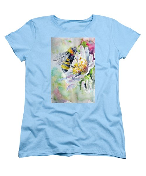 Bee On Flower Women's T-Shirt (Standard Cut)