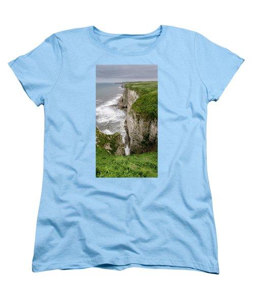 Bempton Cliffs Women's T-Shirt (Standard Cut) by Nigel Wooding