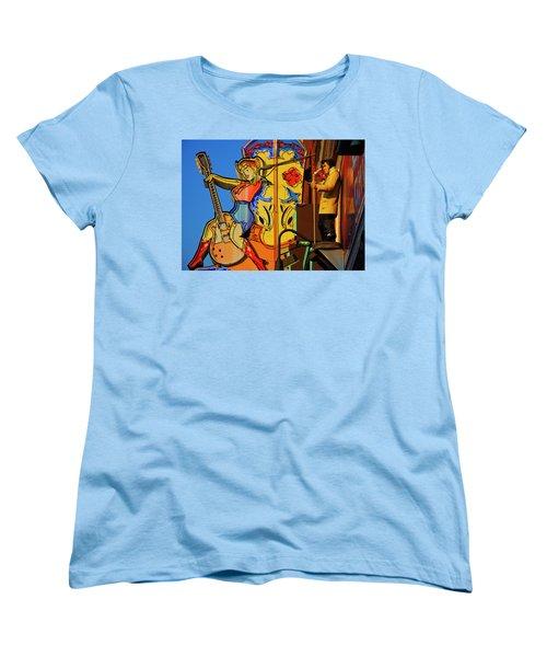 Women's T-Shirt (Standard Cut) featuring the photograph Betty Boots by Skip Hunt