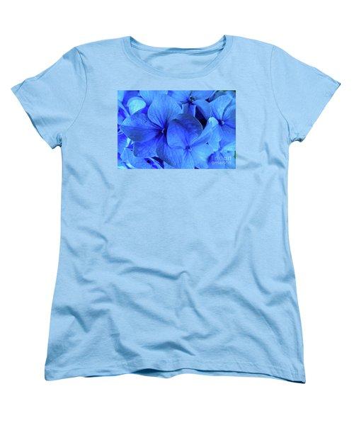 Women's T-Shirt (Standard Cut) featuring the photograph Blue by Nancy Patterson