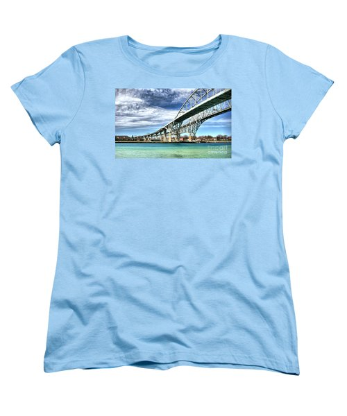 Blue Water Bridge Women's T-Shirt (Standard Cut) by Joe  Ng