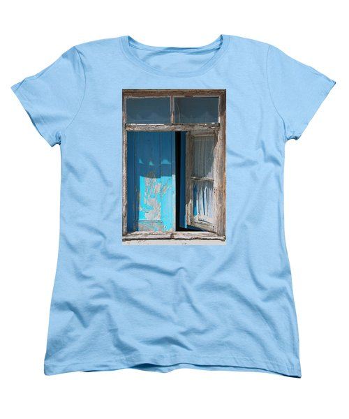 Blue Window Women's T-Shirt (Standard Cut) by Edgar Laureano
