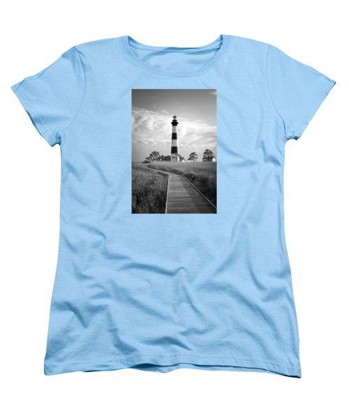 Bodie Island Lighthouse Women's T-Shirt (Standard Cut) by Marion Johnson