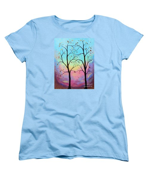 Women's T-Shirt (Standard Cut) featuring the painting Branching Out by Stacey Zimmerman