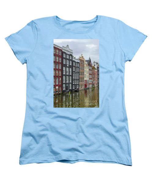 Canal Houses In Amsterdam Women's T-Shirt (Standard Cut) by Patricia Hofmeester