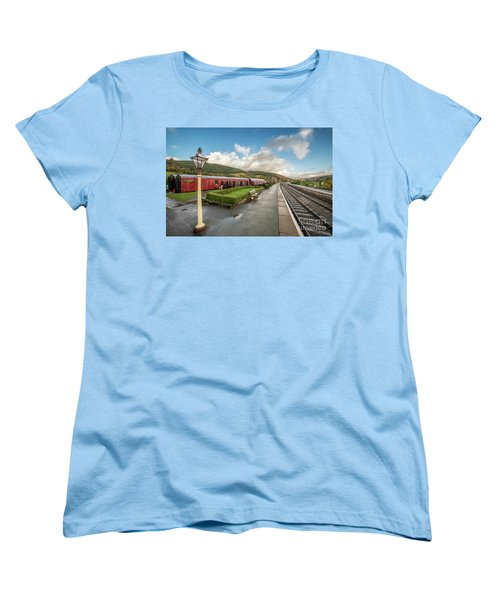 Women's T-Shirt (Standard Cut) featuring the photograph Carrog Railway Station by Adrian Evans