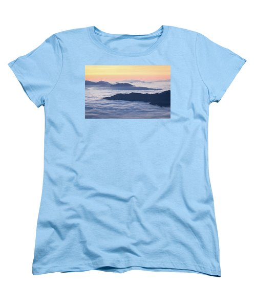 Cataloochee Valley Sunrise Women's T-Shirt (Standard Cut) by Serge Skiba