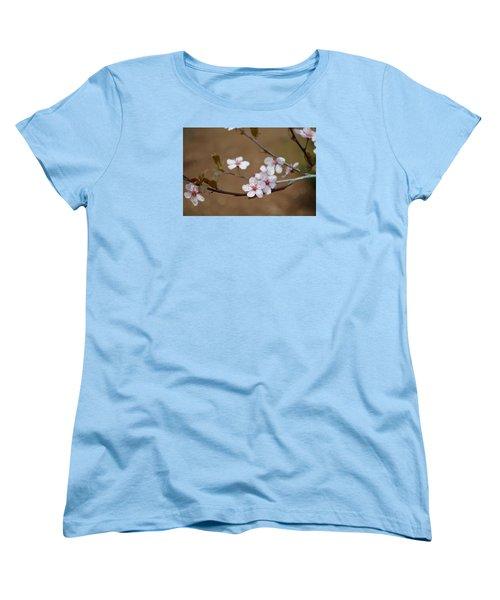 Women's T-Shirt (Standard Cut) featuring the photograph Cherry Blossoms by Linda Geiger