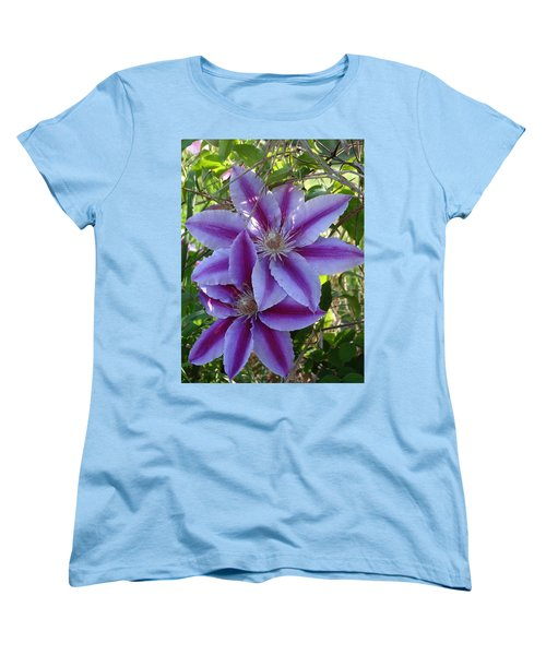 Women's T-Shirt (Standard Cut) featuring the photograph Clematis Petals by Rebecca Overton