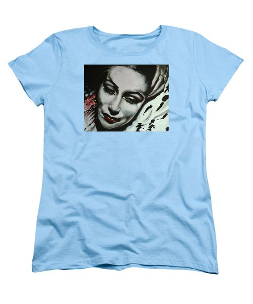 Women's T-Shirt (Standard Cut) featuring the painting Dolores by Sandro Ramani