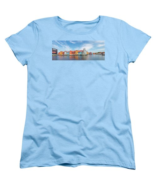 Colorful Buildings Women's T-Shirt (Standard Cut) by Hans Engbers