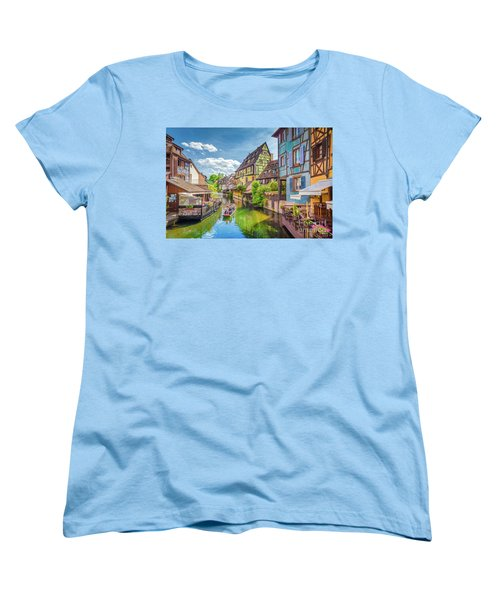 Colorful Colmar Women's T-Shirt (Standard Cut) by JR Photography