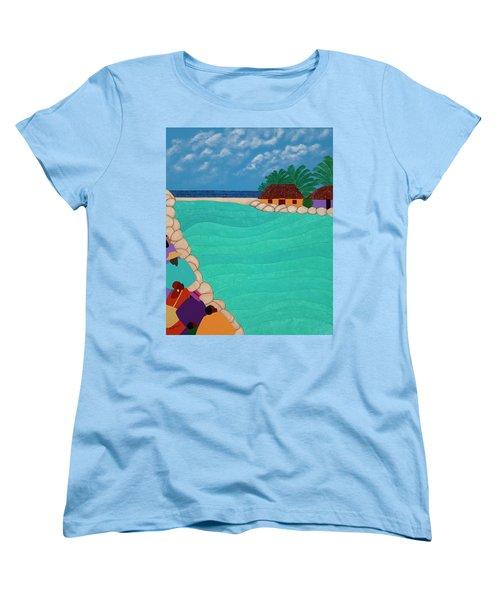 Curacao Lagoon Women's T-Shirt (Standard Fit)