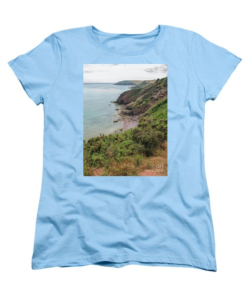 Devon Coastal View Women's T-Shirt (Standard Cut) by Patricia Hofmeester