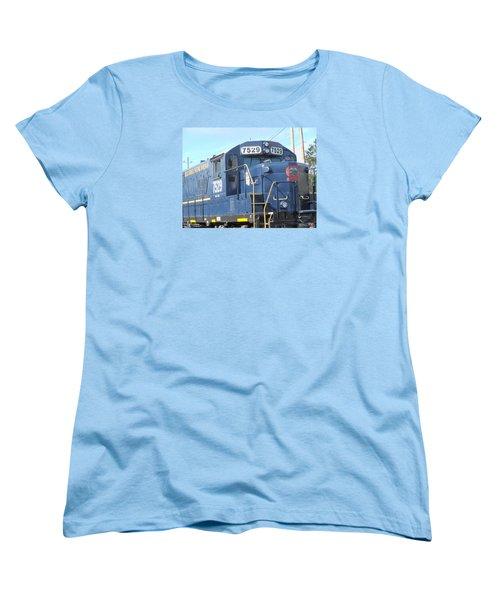 Diesel Engline Train Women's T-Shirt (Standard Cut) by Linda Geiger