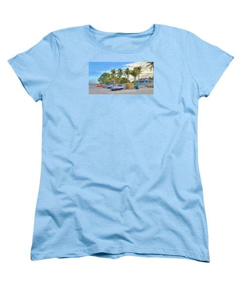 Docs Beach House Women's T-Shirt (Standard Cut) by Sean Allen