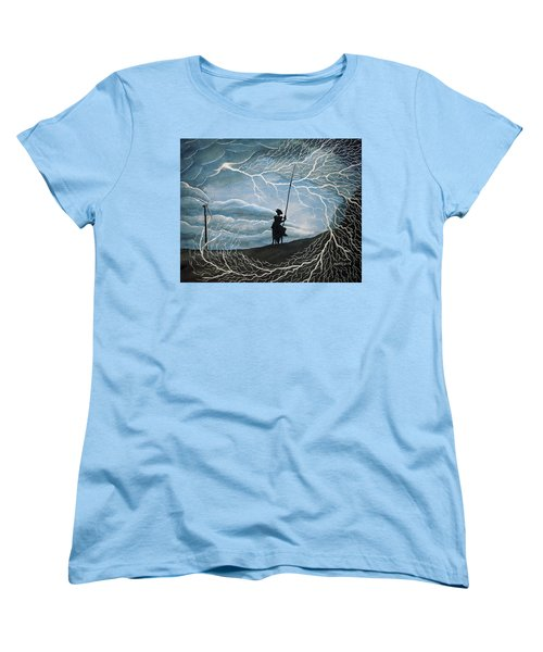 Women's T-Shirt (Standard Cut) featuring the painting Don Quijote by Edwin Alverio
