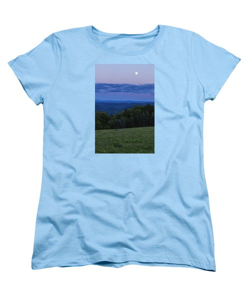 Women's T-Shirt (Standard Cut) featuring the photograph East Dover Full Moon by Tom Singleton