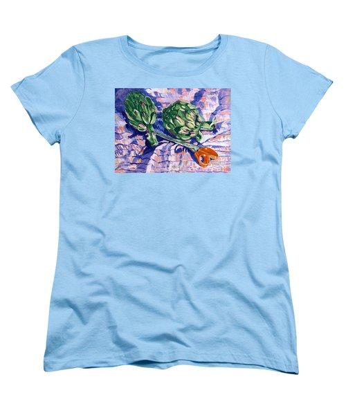 Edible Flowers Women's T-Shirt (Standard Cut) by Jan Bennicoff