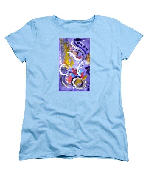 Elephant Dance Women's T-Shirt (Standard Cut) by Lynda Cookson