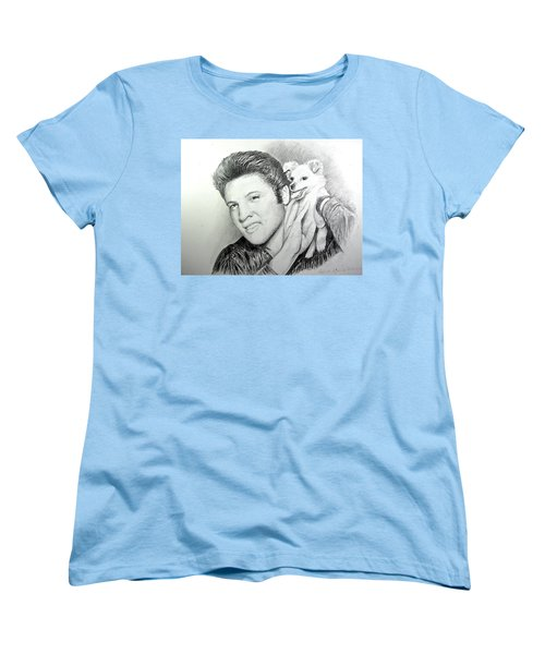 Elvis And Sweet-pea Women's T-Shirt (Standard Cut) by Patricia Schneider Mitchell