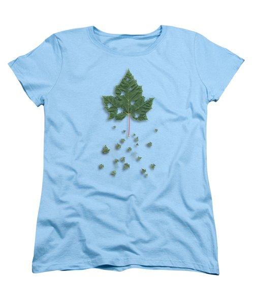 Fall Women's T-Shirt (Standard Cut) by AugenWerk Susann Serfezi