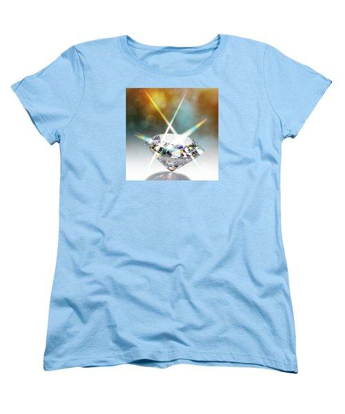 Flashing Diamond Women's T-Shirt (Standard Cut) by Atiketta Sangasaeng