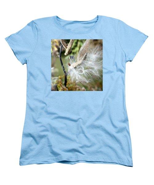Flight Of The Milkweed Women's T-Shirt (Standard Cut) by Lauren Radke
