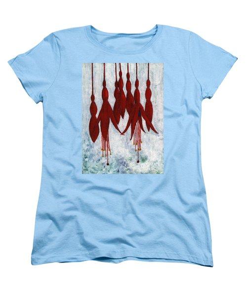 Fuchsia Women's T-Shirt (Standard Cut) by Barbara Moignard