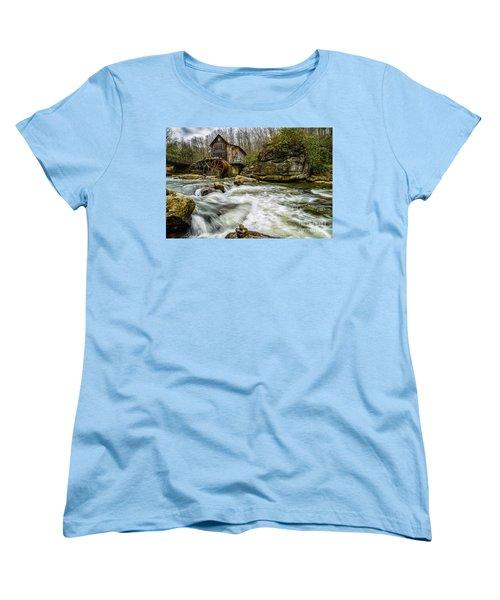 Glade Creek Grist Mill Women's T-Shirt (Standard Cut) by Thomas R Fletcher