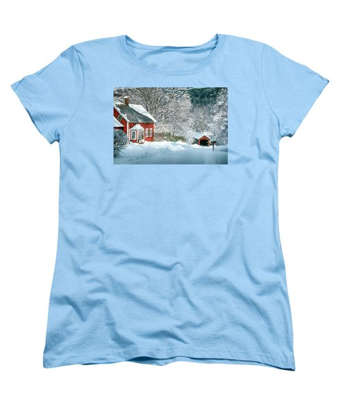 Green River Bridge In Snow Women's T-Shirt (Standard Cut) by Paul Miller