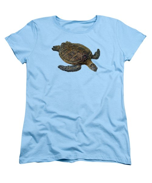 Hawaiian Sea Turtle Women's T-Shirt (Standard Cut) by Pamela Walton