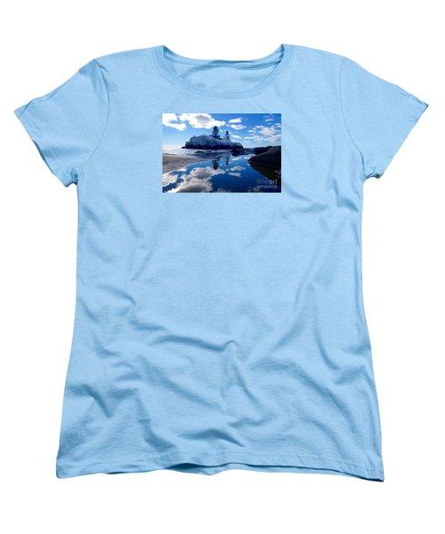 Hollow Rock Reflections Women's T-Shirt (Standard Cut) by Sandra Updyke