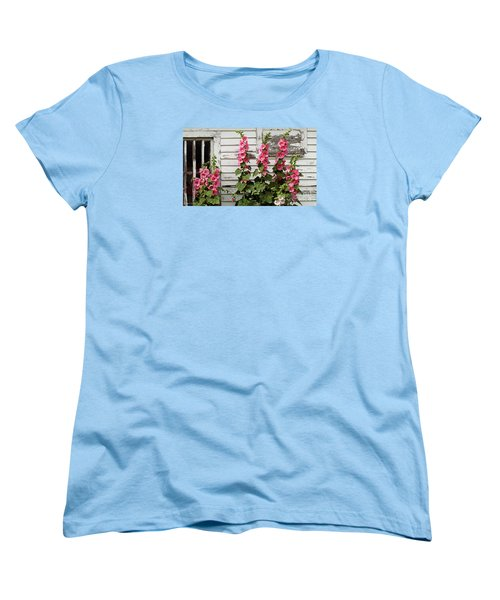 Hollyhocks Women's T-Shirt (Standard Cut) by Bruce Morrison
