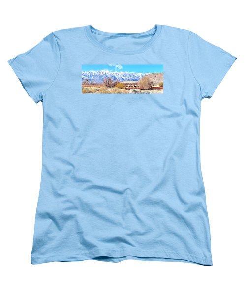 In The Valley Women's T-Shirt (Standard Cut) by Marilyn Diaz