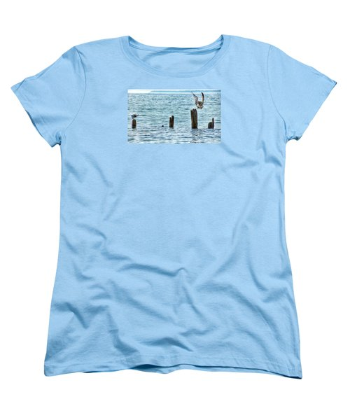 Women's T-Shirt (Standard Cut) featuring the photograph Incoming by Nikki McInnes