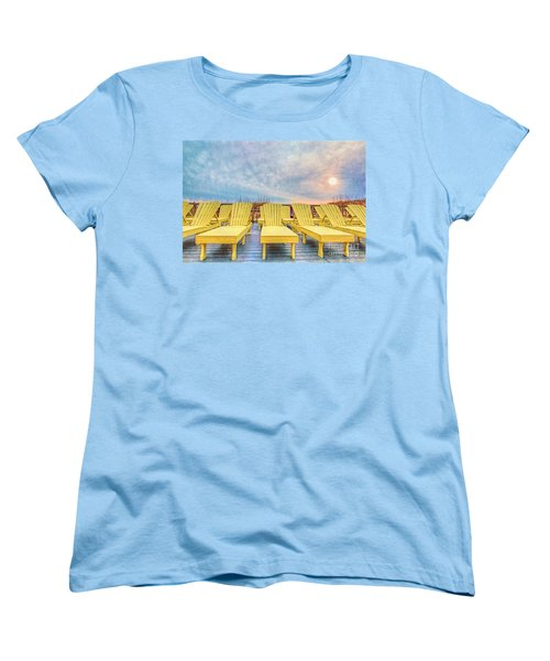 Laid Back Women's T-Shirt (Standard Cut) by Marion Johnson