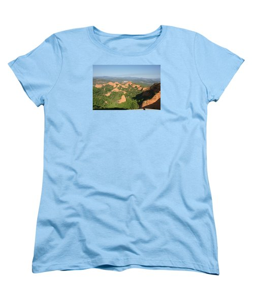 Women's T-Shirt (Standard Cut) featuring the photograph Las Medulas by Christian Zesewitz