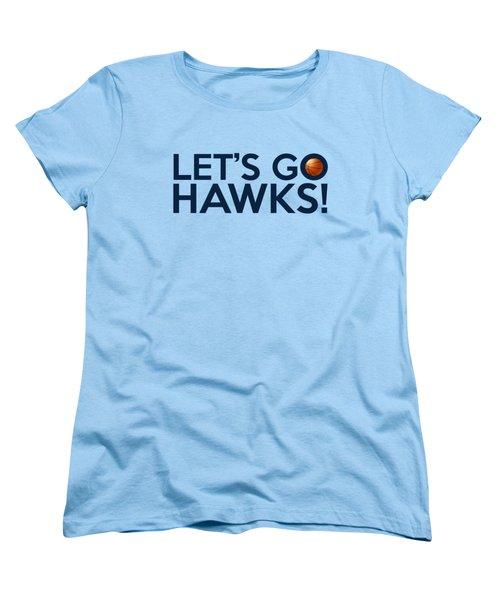 Let's Go Hawks Women's T-Shirt (Standard Cut) by Florian Rodarte