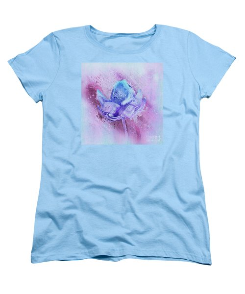 Women's T-Shirt (Standard Cut) featuring the digital art Lily My Lovely - S114sqc75v2 by Variance Collections