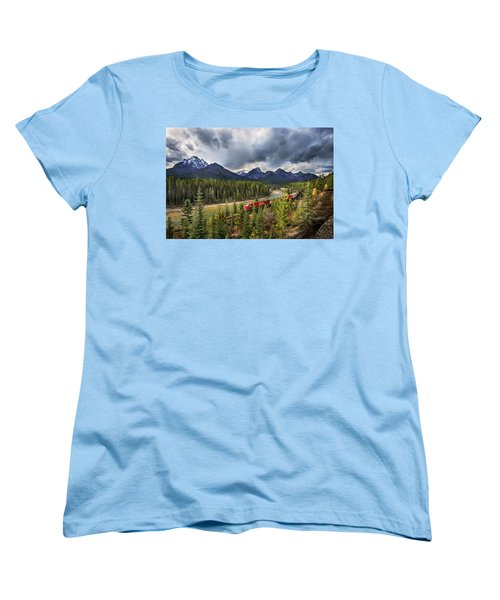 Women's T-Shirt (Standard Cut) featuring the photograph Long Train Running by John Poon