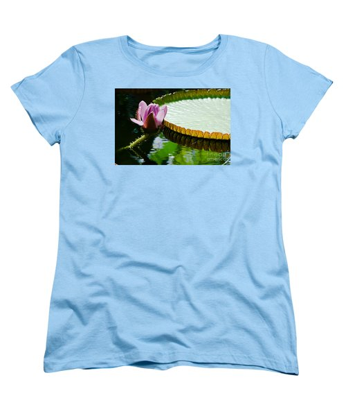 Women's T-Shirt (Standard Cut) featuring the painting Lotus Flower by Yurix Sardinelly