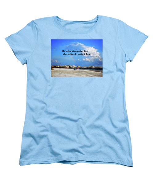 Women's T-Shirt (Standard Cut) featuring the photograph Love Of Country by Gary Wonning