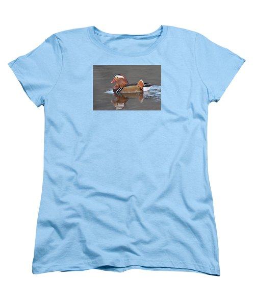 Mandarin Duck Women's T-Shirt (Standard Cut) by Alan Lenk