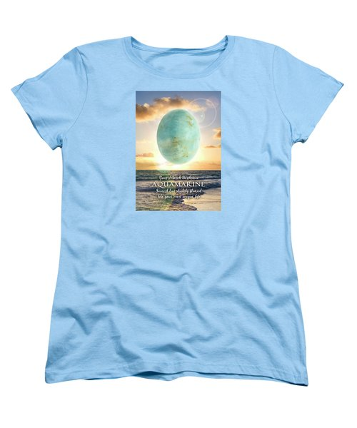 March Birthstone Aquamarine Women's T-Shirt (Standard Cut)